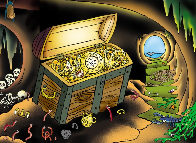 pirate treasure hunt cave