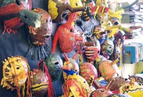 Christ the King Primary School, Islington - African mask project