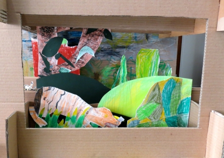Cunningham Hill Infants, St Albans - re-interpreting paintings from the National Gallery as 3D slot-together dioramas