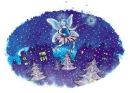 Blue Flame Fairy (Christmas card) - CO Gas Safety