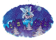 Blue Flame Fairy (Christmas card) - CO Gas Safety