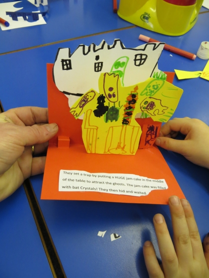 Herewood House School - making you own group pop-up books