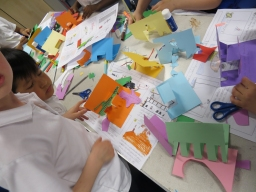 Word Festival at Islington Museum - pop-up book workshops with primary school children