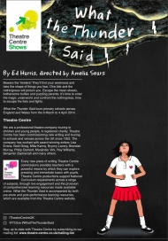 What the Thunder Said - The Theatre Centre