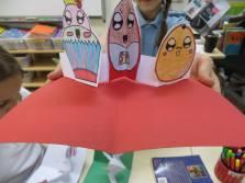 British International Primary School, Budapest - three days of workshops in pop-up book design