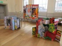 Three day residency at St Albans Museum - working with families on giant pop-ups about women with a connection to the town